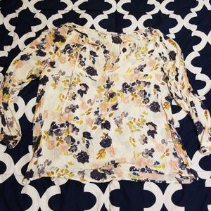 Lucky Brand Awesome Floral Print Top